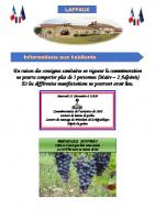 10 Novembre 2020 – Commémoration du 11 novembre et Beaujolais nouveau