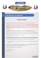 19 Août 2020 – Permanence et accueil du public