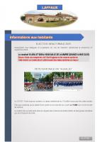 07 Juillet 2020 – Elections sénatoriales, fête nationale du 14 juillet et secrétariat