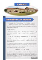 Mai 2020 – Elections 2020-2026, fêtes des mères et appel du 18 juin.