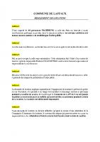 Commune de Laffaux – Règlement de location