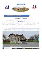 08 Avril 2021 – Création du site Internet de la commune et sondage concernant le mode de fermeture du cimetière
