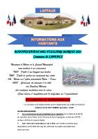 16 Septembre 2021 – Manifestation des Fusiliers Marins, circulation et stationnement, ouverture de la chasse pour la saison 2021-2022 et travaux dans la commune.