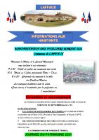 16 Septembre 2021 – Manifestation des Fusiliers Marins, circulation et stationnement, Journée du Patrimoine et ouverture de la chasse pour la saison 2021-2022